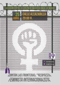 25 de abril: contra las fronteras @ Calle Alcazabilla | Málaga | Andalucía | España