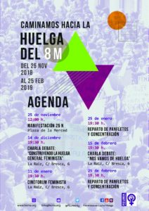 Agenda FELMA> Huelga 8M @ varios (ver cartel)
