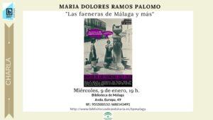 Faeneras . Charla de Mª Dolores Ramos Palomo @ Biblioteca de Málaga | Málaga | Andalucía | España