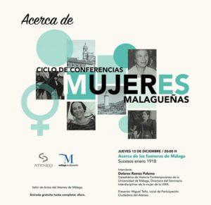 Ciclo de Conferencias. Mujeres Malagueñas @ Salón de actos del Ateneo | Málaga | Andalucía | España