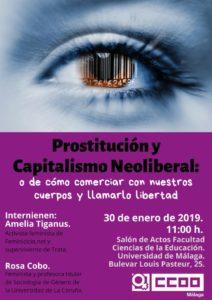 Charla sobre prostitución y capitalismo neoliberal @ Salón de acto de la Facultad de Ciencia de la educación | Málaga | Andalucía | España