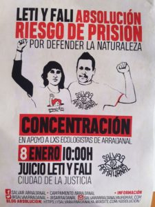 Apoyo a activistas de Arraijanal LETI y Fali @ Ciudad de la Justicia | Málaga | Andalucía | España