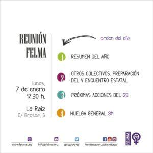 FELMA Reunión Enero @ La Raiz | Málaga | Andalucía | España