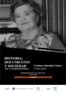 Cristina Almeida.- Ciclo 'Historia, documentos y sociedad: 1968 y la Transición Española' @ Auditorio del museo de Málaga