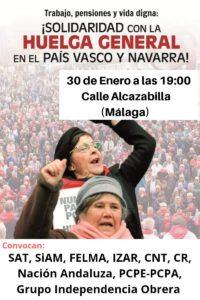 Trabajo, pensiones y vida digna @ Calle Alcazabilla | Málaga | Andalucía | España