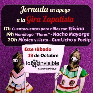 Jornada en apoyo a la gira zapatista @ La Invisible | Málaga | Andalucía | España